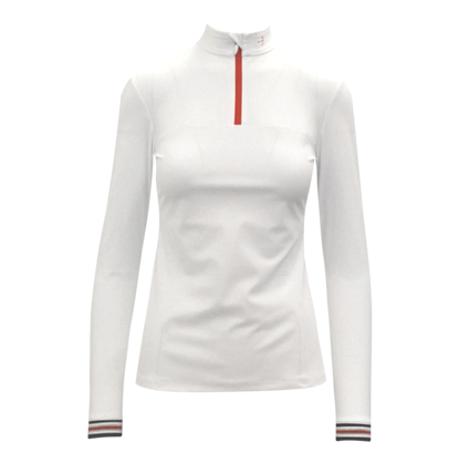 "Tournamentshirt ""Clueso Zip"" White"