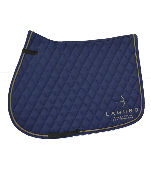 "Saddle Pad Jump ""Luxury"" Navy"